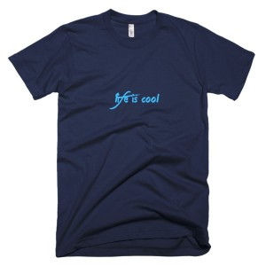 Life is cool – T-Shirt Navy (Splashirt)