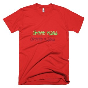 Good vibes Good vibes – T-Shirt Red (Splashirt)