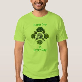 earth day is every day men's t-shirt lime