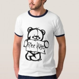 free hugs t-shirt teddy bear