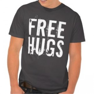 free hugs t-shirt men's