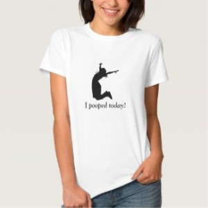 I pooped today women's T-shirt white