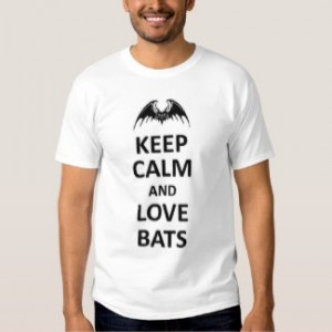 keep calm and love bats t-shirt men white