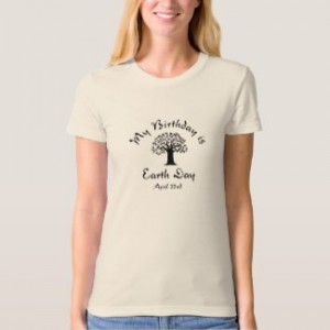 my birthday is earth day women's t-shirt natural