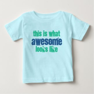this is what awesome looks like baby t-shirt light blue