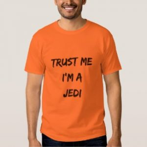 trust me i'm a jedi t-shirt safety orange