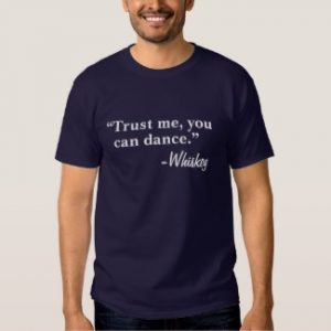 trust me you can dance t-shirt navy blue