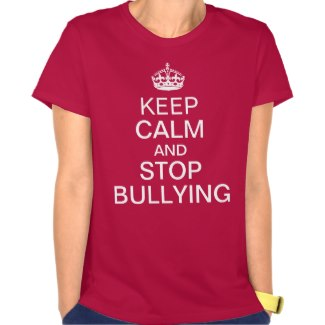 keep calm and stop bullying women's t-shirt deep red