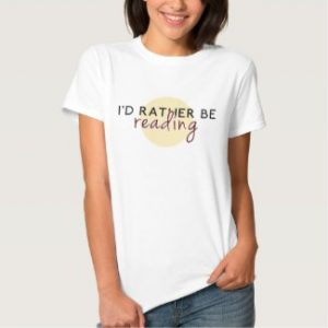 i'd rather be reading women's t-shirt white