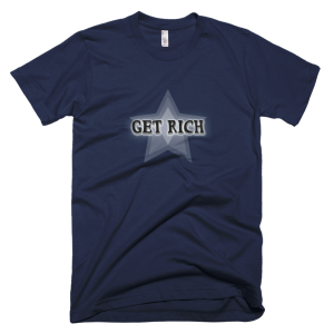 Get Rich – T-Shirt Navy (Splashirt)