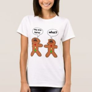 """my arm hurts!"" - ""what?"" (gingerbreads) (Women)"