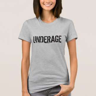 heather grey Underage women's tee shirt