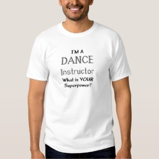 dance instructor t-shirt white