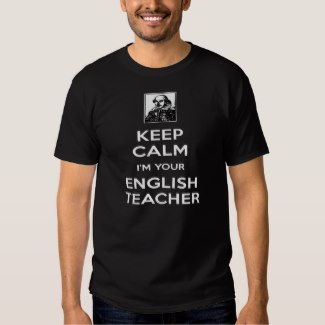keep calm i'm your english teacher black t-shirt