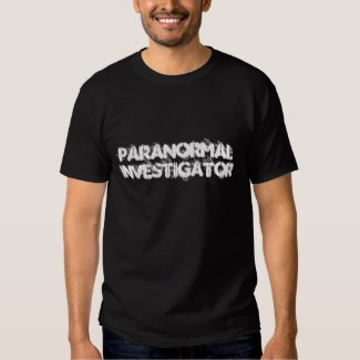 paranormal investigator t-shirt black men