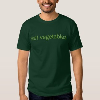 eat vegetables t-shirt deep forest green