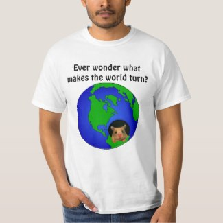 Ever wonder what makes the world turn? (hamster in earth)
